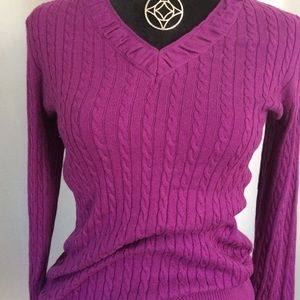 Eddie Bauer Cable knit sweater size M  with tags